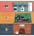 Internet things flat banners set vector image vector image