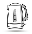 kettle in line art style on isolated vector image