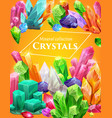 mineral stones precious crystals and jewels vector image vector image