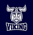 modern harsh viking conqueror logo vector image vector image