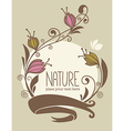 nature card vector image vector image