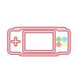 neon video game vector image vector image