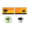 oak tree template set vector image