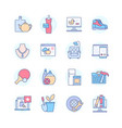 online shopping categories - line design style vector image
