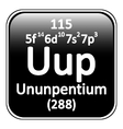 Periodic table element ununpentium icon vector image vector image