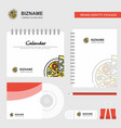 pizza logo calendar template cd cover diary and vector image vector image