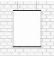 Poster hanging on seamless brick wall vector image vector image