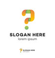 question symbol isolated on white vector image vector image