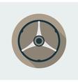 Retro Car Steering Wheel Icon Flat Symbol vector image vector image