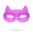 rose cat masquerade eye mask vector image vector image