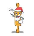 santa rolling pin character cartoon vector image vector image