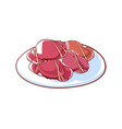 sea crabs isolated icon vector image vector image