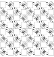 seamless abstract pattern with line black and vector image vector image