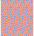 seamless pattern in orange and blue vector image vector image