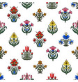 seamless pattern with little flowers for fabric vector image vector image