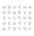 set line icons b2c vector image vector image
