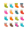 set of colorful socks with different patterns vector image vector image