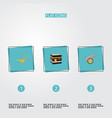 set of religion icons flat style symbols with oil vector image vector image