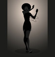 silhouette of dancer and soul singer in the style vector image vector image