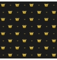 Simple seamless pattern with crown symbol art vector image vector image