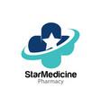 star medicine health logo designs modern vector image