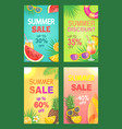 summer discount sales set vector image vector image