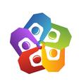 Teamwork handle people logo vector image