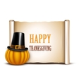 Thanksgiving card on a white background vector image