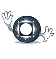 waving byteball bytes coin character cartoon vector image vector image
