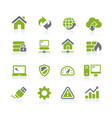 web developer icons natura series vector image vector image