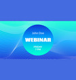 webinar abstract template mock up for vector image