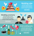 wedding party banner horizontal set flat style vector image vector image