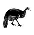 wild turkey retro style vector image vector image