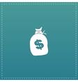 sack of dollars vector image