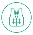 Life vest line icon vector image
