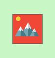 Mountain landscape icon vector image
