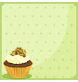 A special paper design with a cupcake vector image vector image
