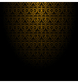 Abstract background with gold pattern EPS10 vector image vector image