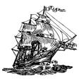 atlantic boat vector image vector image