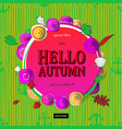 autumn sale flyer template with lettering vector image vector image