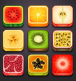 background for app icons-fruits part 2 vector image vector image