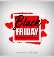 black friday sale inscription vector image vector image