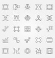 blockchain icons set cryptography block vector image vector image