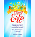 blue easter template vector image