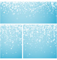 blue winter backgrounds with snowflakes vector image vector image