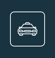 cab outline symbol premium quality isolated taxi vector image vector image
