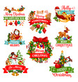 christmas and new year winter holiday icon design vector image vector image