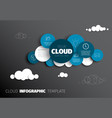 cloud - infographic template vector image vector image