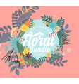 delicate floral banner vector image vector image