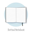 dotted notebook hand drawn style vector image vector image
